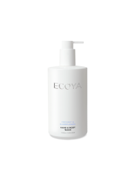 Ecoya - Hand & Body Wash - Coconut & Elderflower 450ml